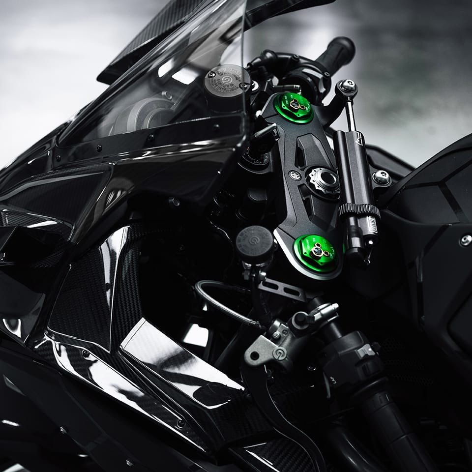 Details of the exclusive BALR. and Kawasaki Motorcycle