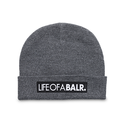 LIFEOFABALR. Big CLub Logo Beanie Grey