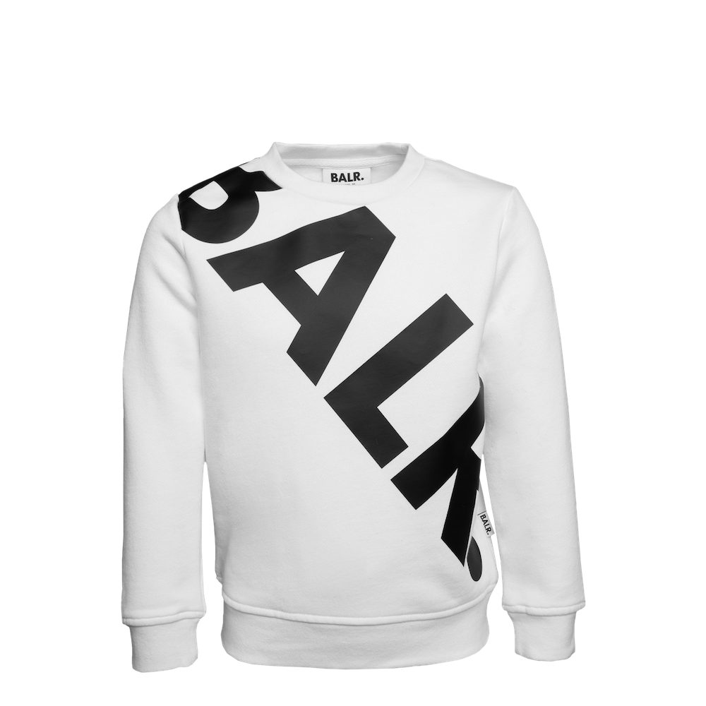 Tilted Logo crew neck sweater kids wit