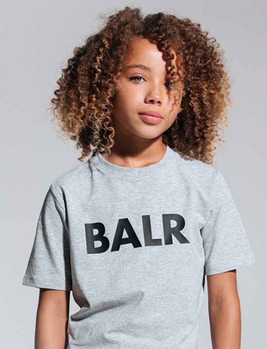 Brand T-shirt Kids Grey