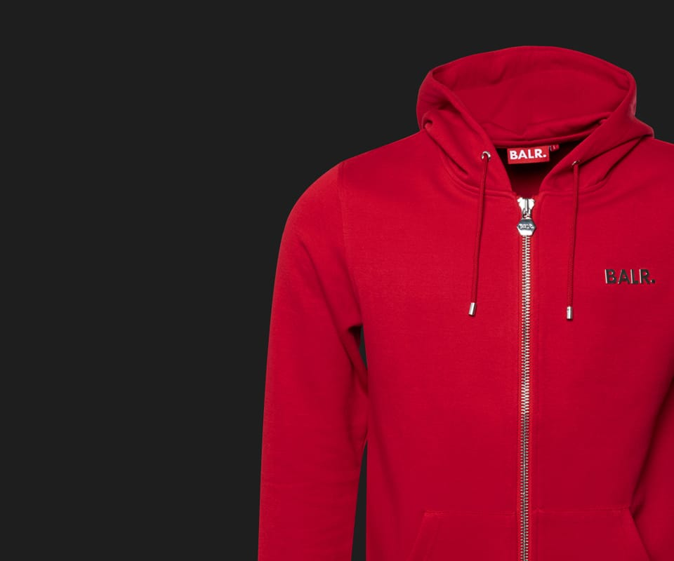 (BALR.)RED Q-Series Zipped Hoodie RED