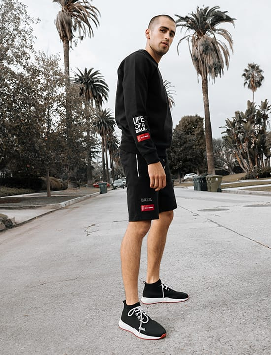 BALR. Embroidered Straight Crew Neck Sweater Black