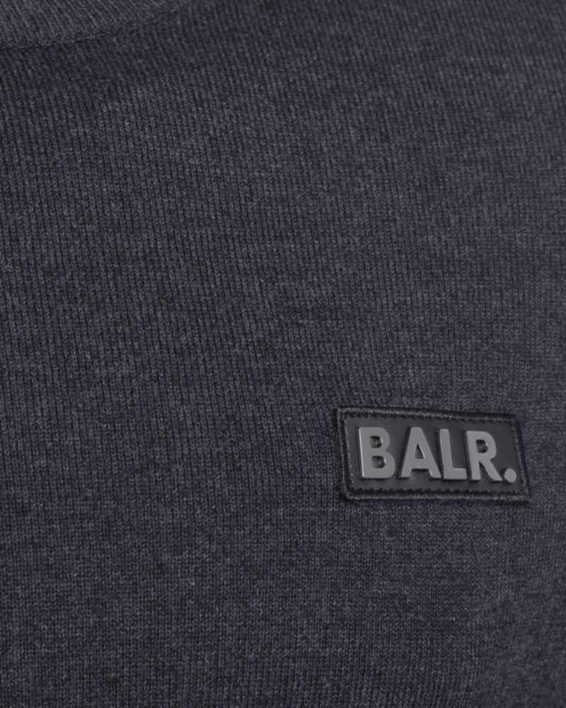 Gun Metal Badge Half-Zip Sweater