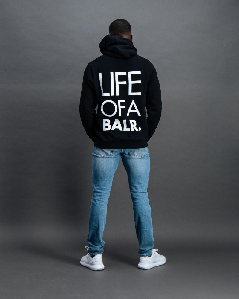 BALR. Life of A BALR. hoodie black Back
