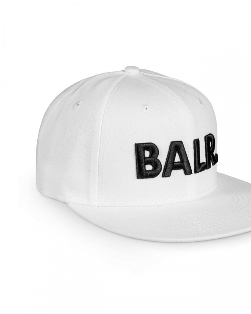 Brand Cotton Cap White Side