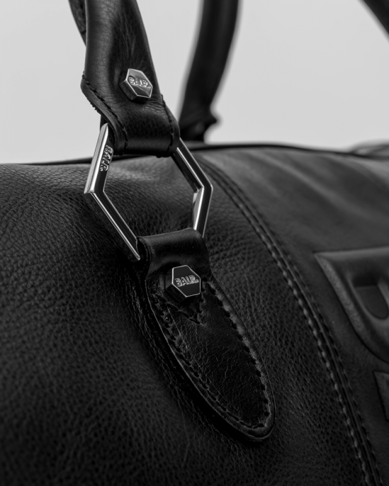 Leather Weekender Details
