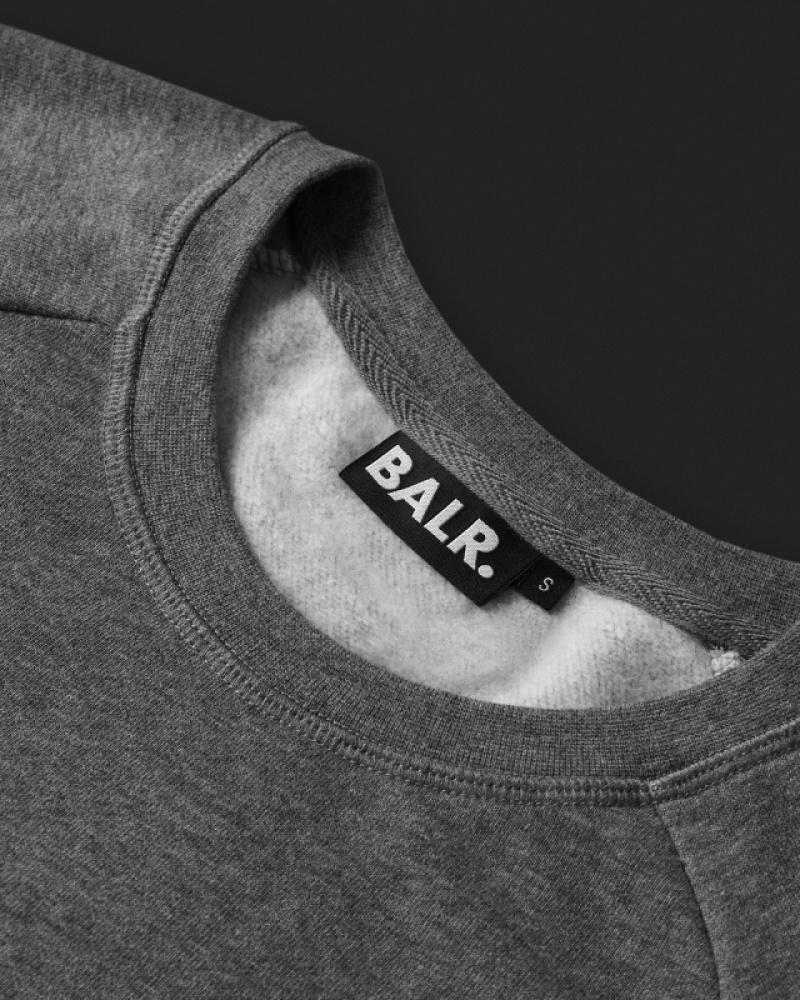 Women Brand Crew Neck Sweater Grey