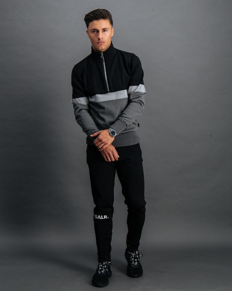 BALR. Premium Track Pants Black Front