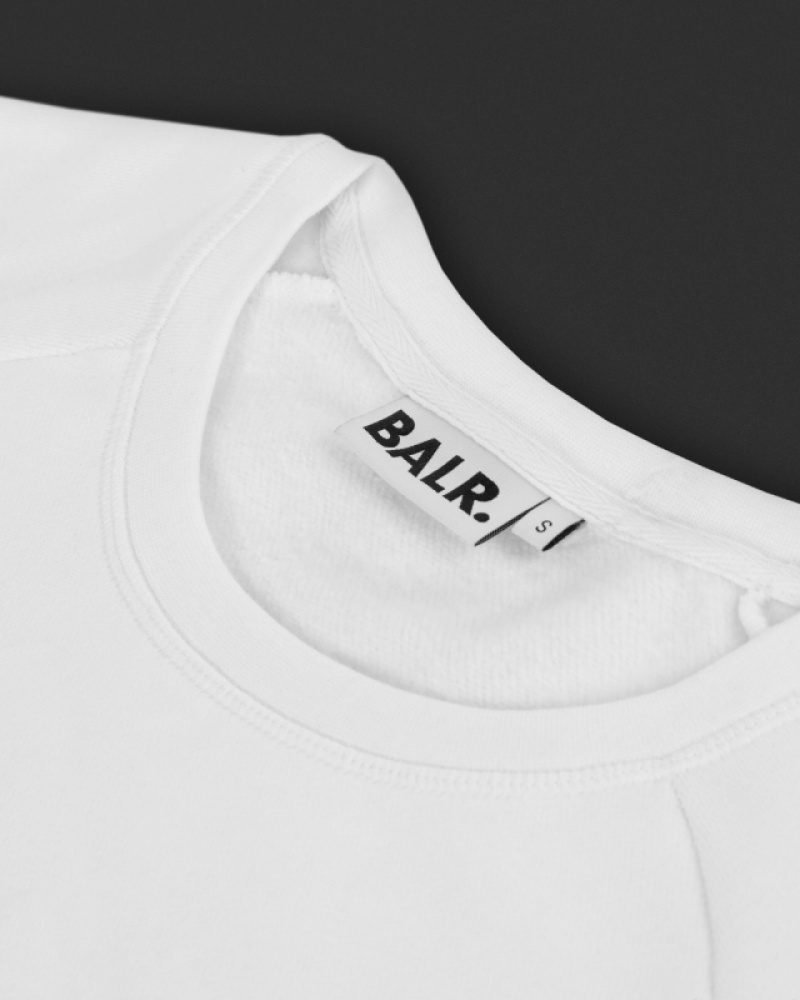 White Crew Neck Women Detail