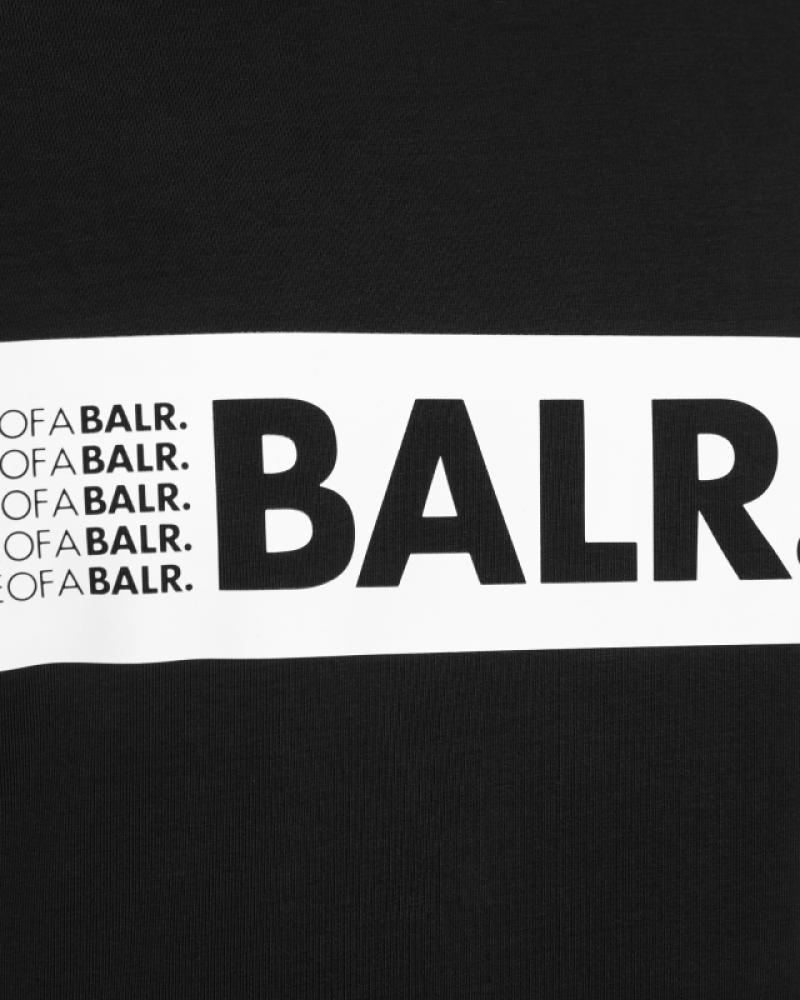 loab boxed logo t-shirt noir | le site officiel balr. découvrez la
