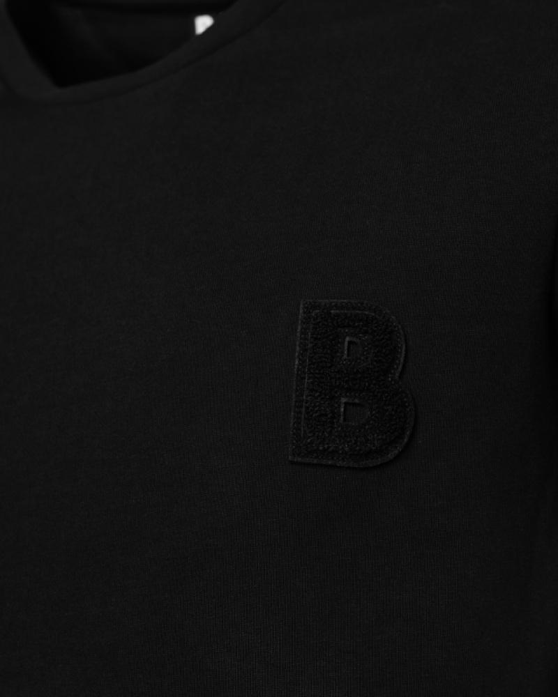 Black Badged Shirt Badges Detail