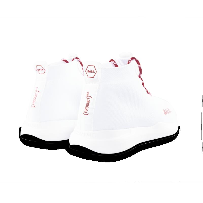 BALR. (BALR.)RED EE Premium Sock Sneakers V2 White Back