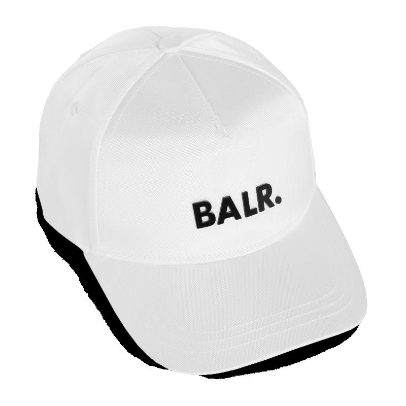 Zijkant BALR. Classic Oxford Cap Wit