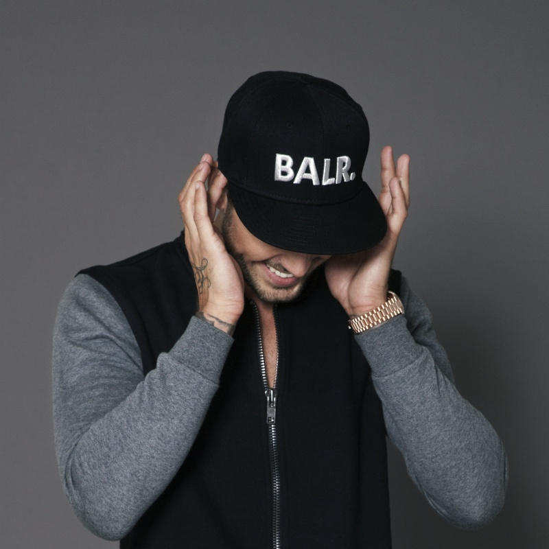 Brand Cotton Cap Black Lifestyle
