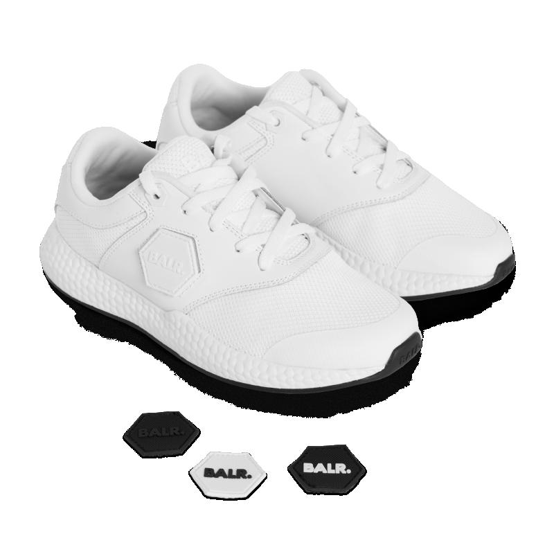 Brand Velcro Sneakers White