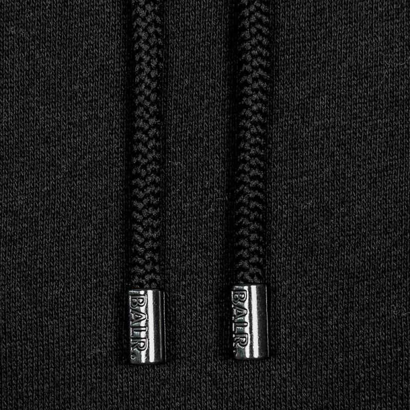 Black Pocket Hoodie Detail
