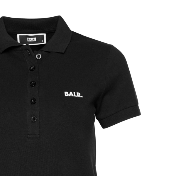 Brand Polo Shirt Women Black Detail1