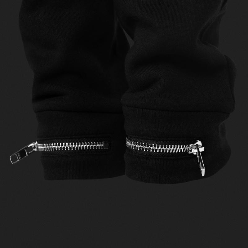 Black Zipped Sweatpants Women Zipper