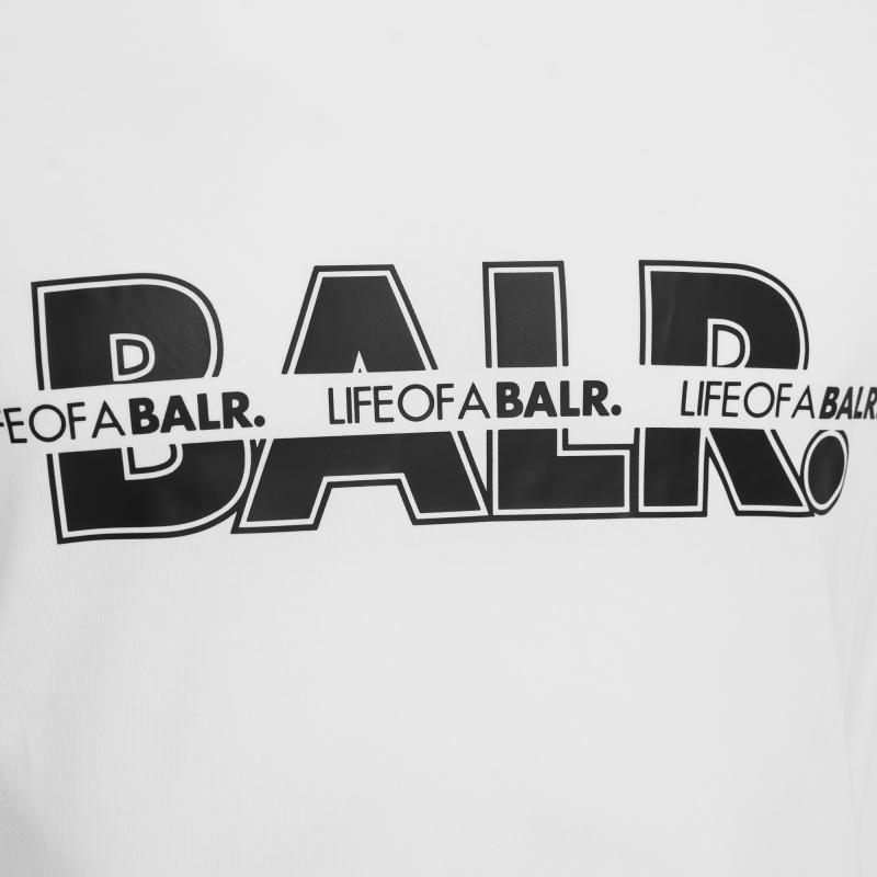 censored loab logo t-shirt blanc | le site officiel balr. découvrez