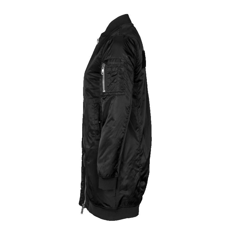 Women Oversized Bomber Jacket Side