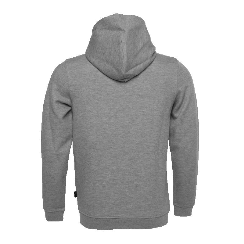 BALR. Q-series Zipped Hoodie Grey Back