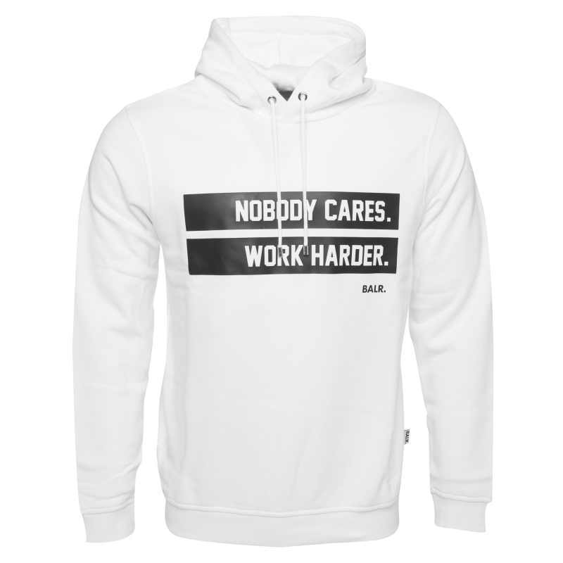 Work Harder Hoodie White