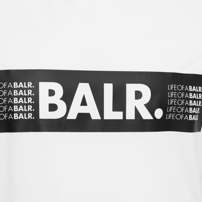 loab boxed logo t-shirt blanc | le site officiel balr. découvrez la
