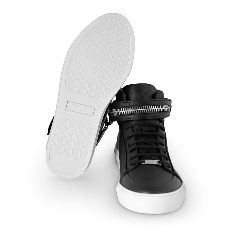 Black And White Leather Sneaker Bottom