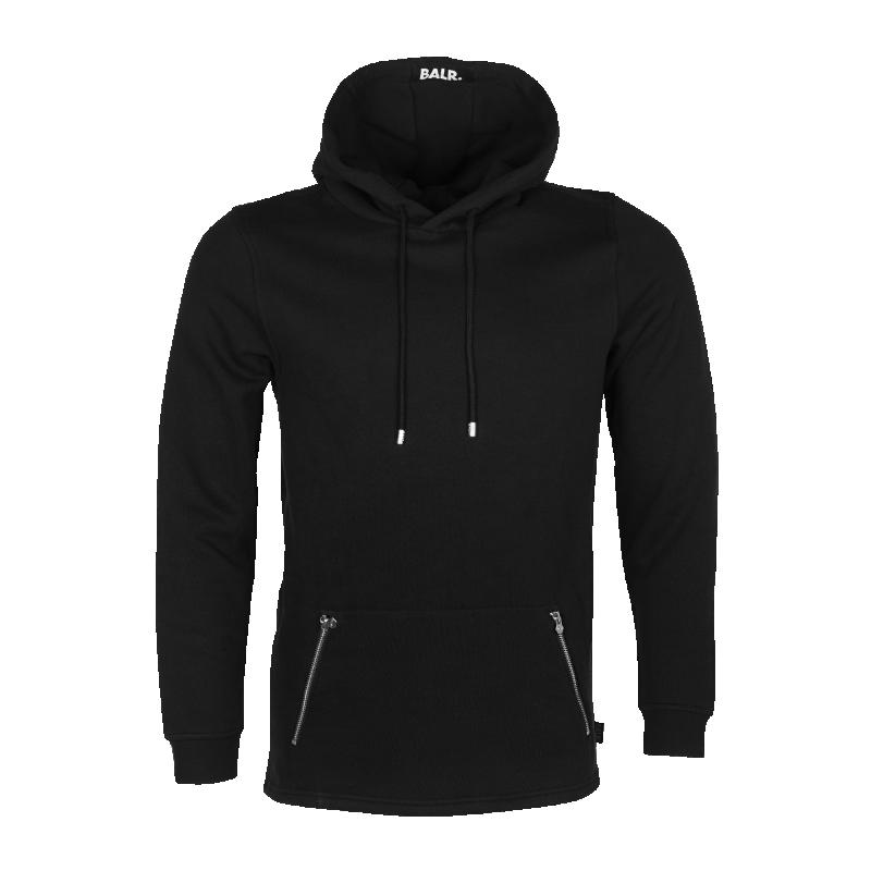 Black Zipped Hoodie Front