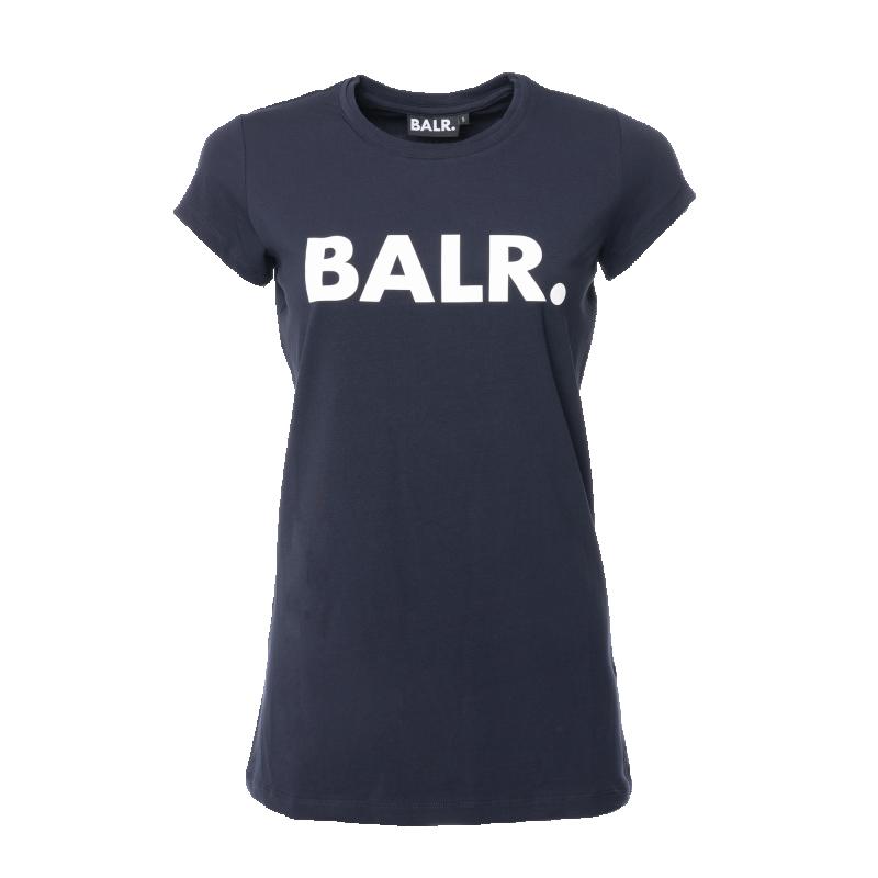 Voorkant BALR. Women Brand T-Shirt Marineblauw