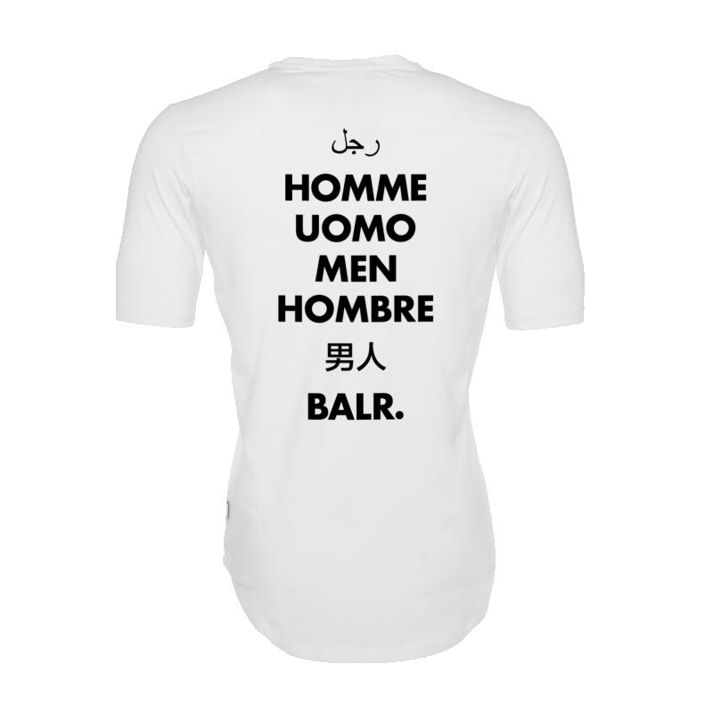 White Global Men Shirt Back