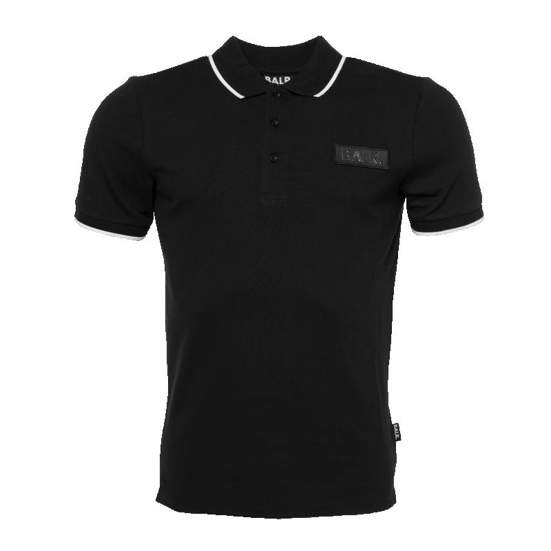 Brand Metal Badge Polo Black