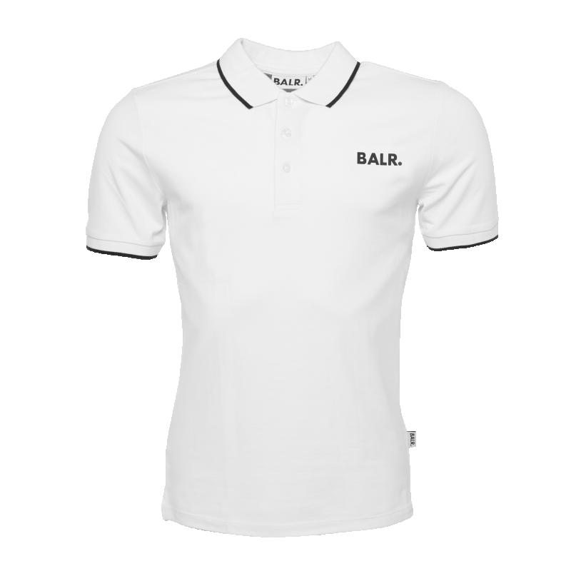Voorkant BALR. Brand Metal Logo Polo Shirt Wit
