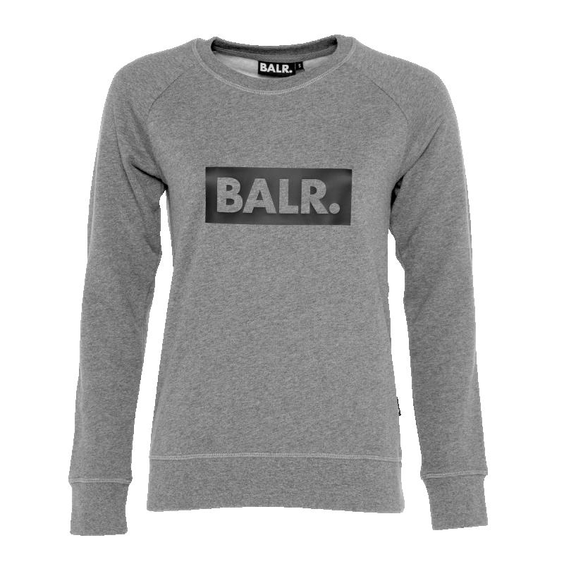 Women Club Crew Neck Sweater Grey