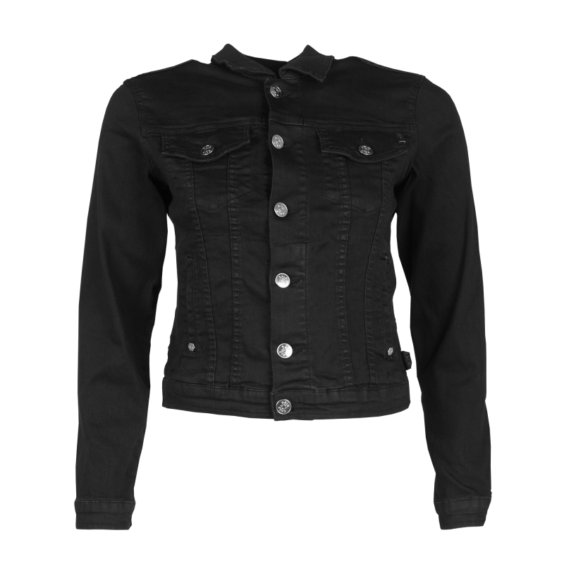 Women Denim Jacket Black