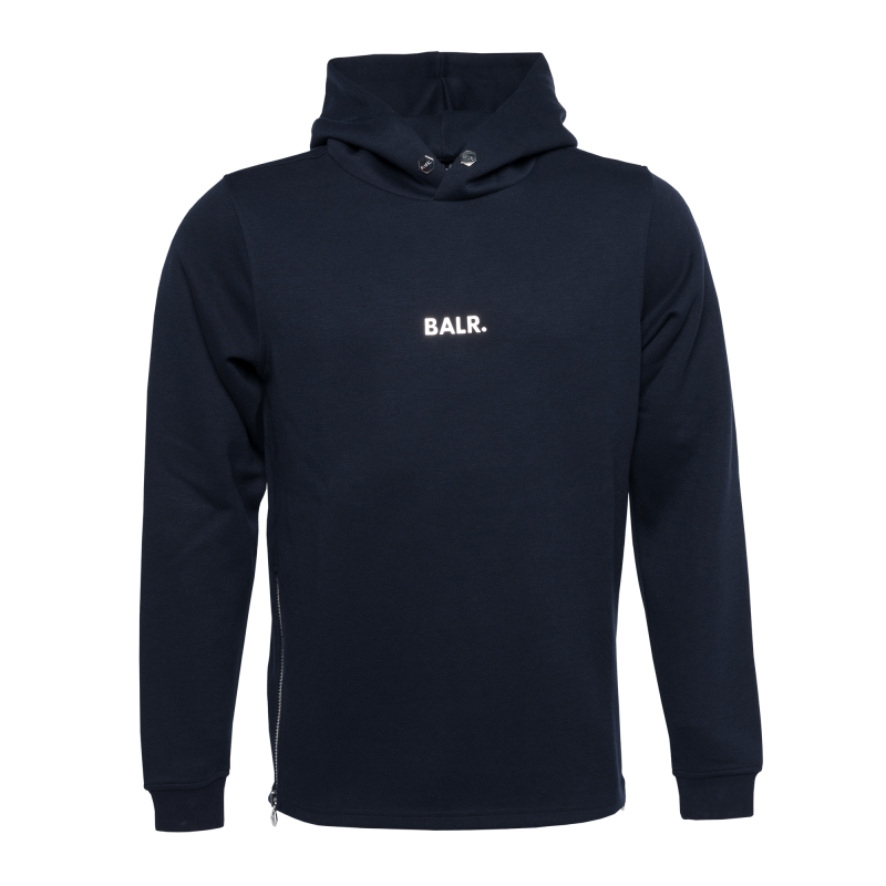 BALR. Q-series Classic Hoodie Navy Blue Front