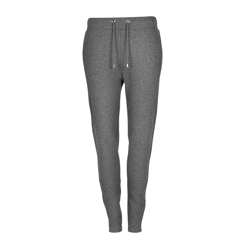 Grey Zipper Sweatpants Women Front