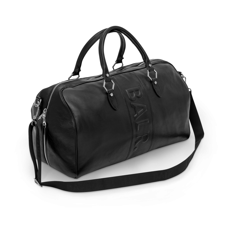 Leather Weekender Side