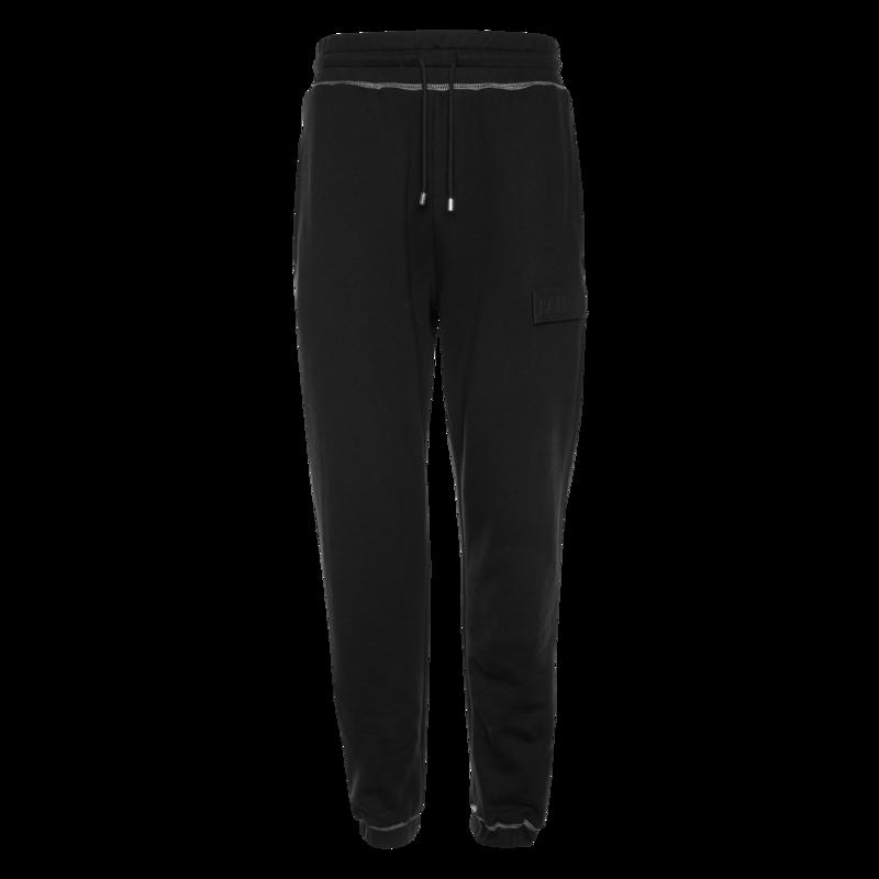 Label Slim Sweatpants Black