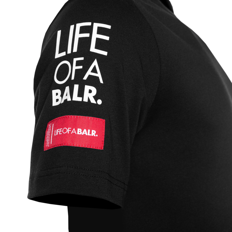 BALR. Embro Straight T-shirt Black