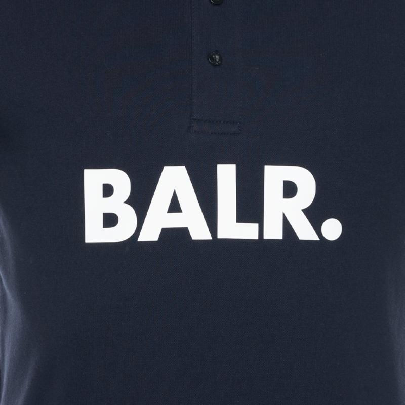 BALR. Big Logo Polo Shirt Navy