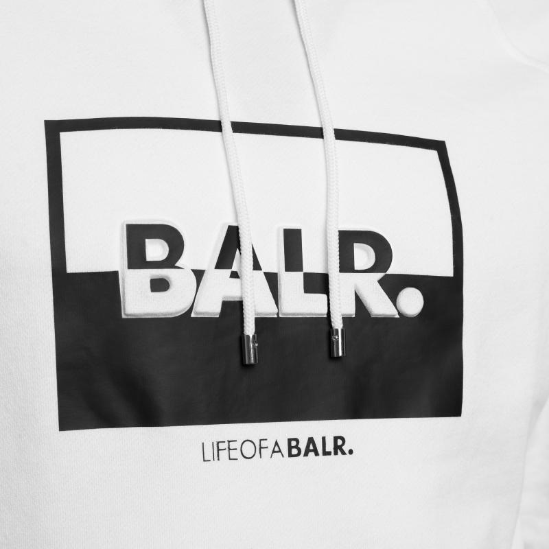 contrasting logo hoodie blanc | le site officiel balr. découvrez la