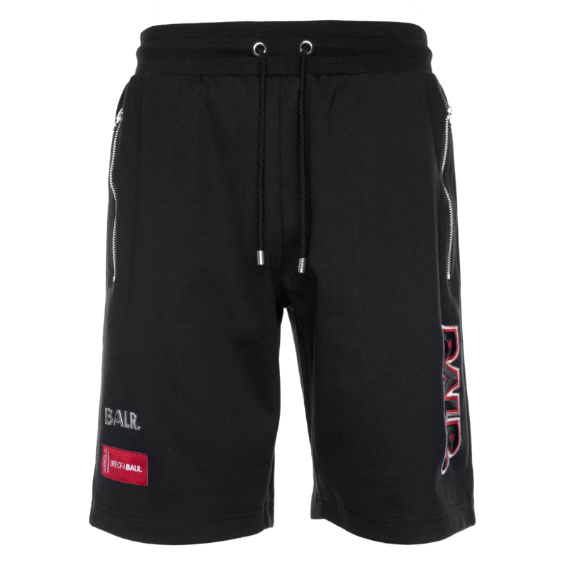 embroidered sweat shorts Black