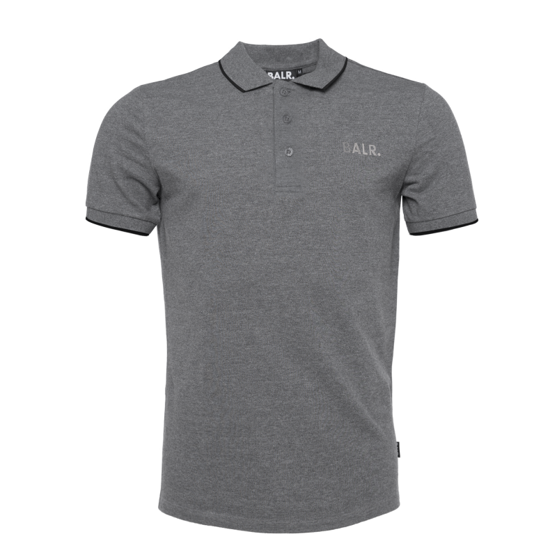 Brand Metal Logo Polo Shirt Grey