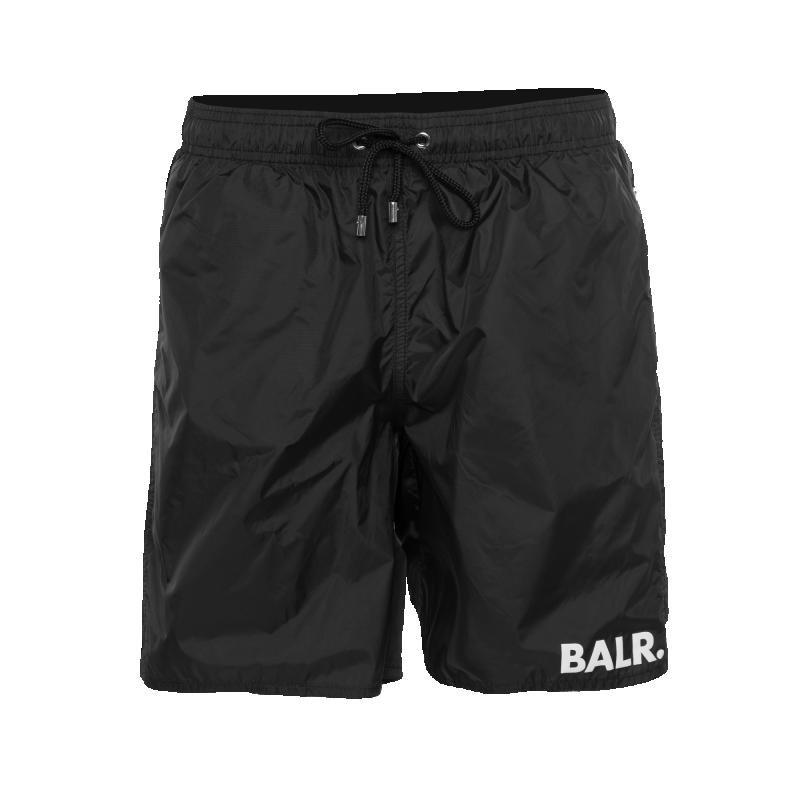 BALR. Mid-Length Swim Shorts Black