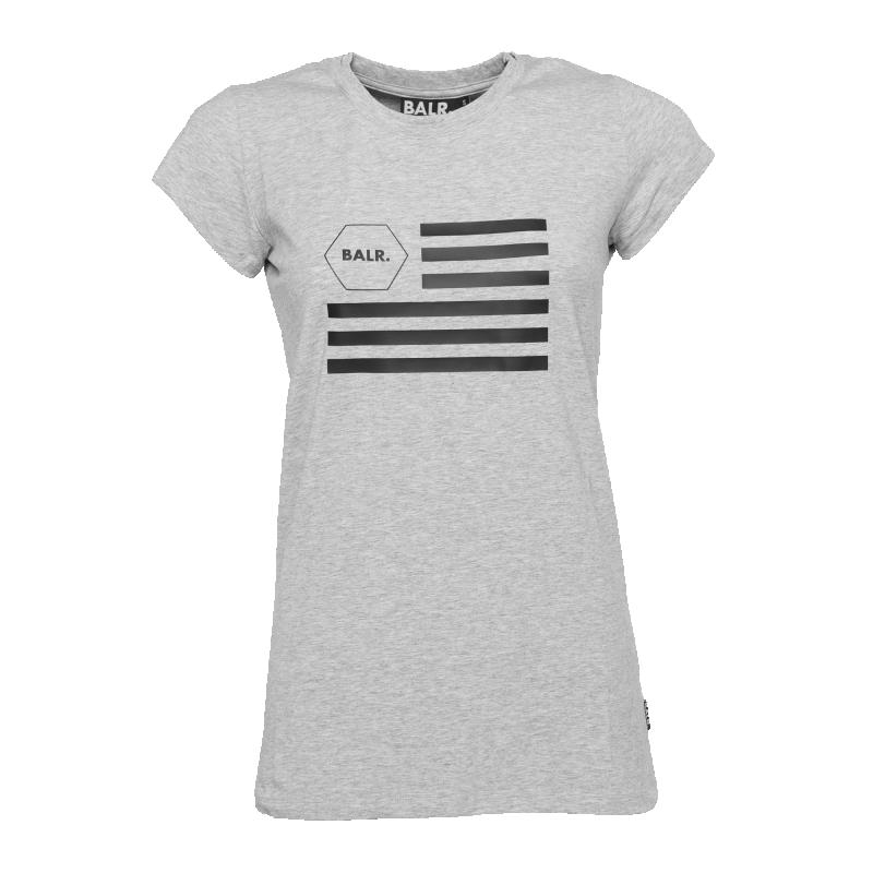 Women USA T-Shirt Grey