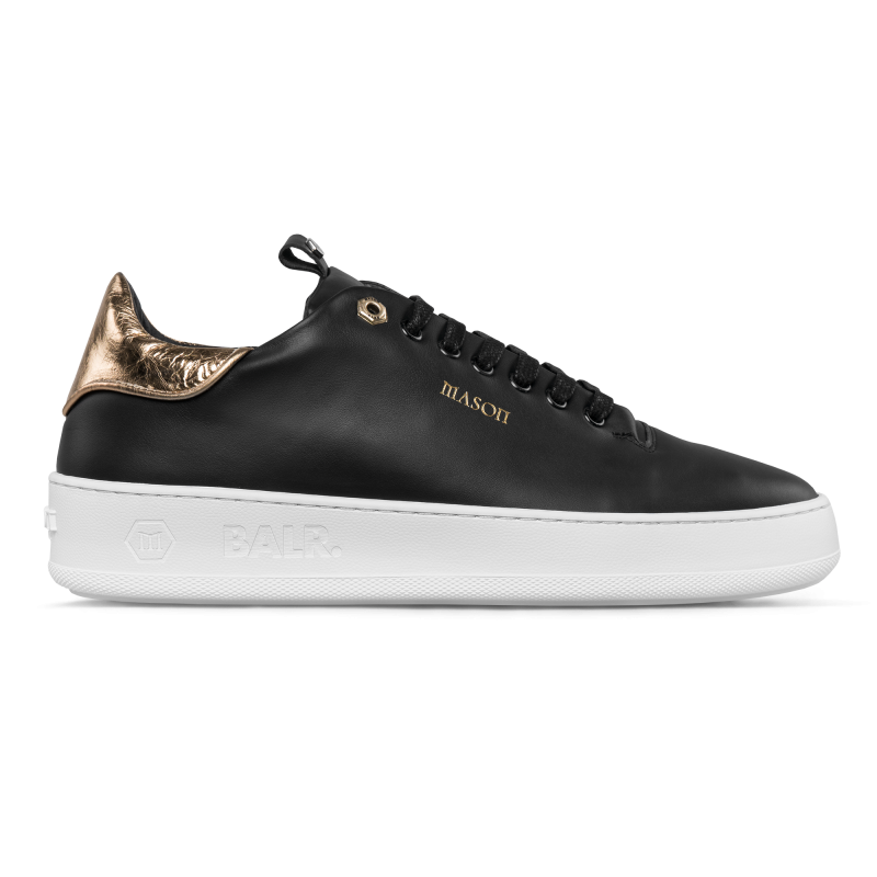 Zijkant BALRxMasonGarments Roma Sneakers Zwart