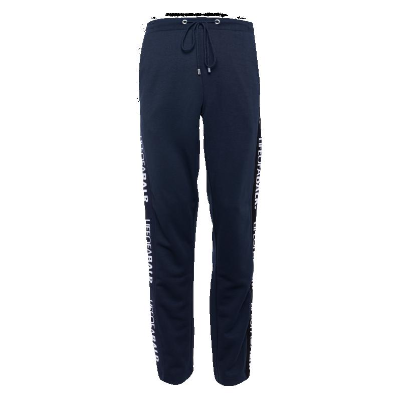 LOAB Webbing-Trimmed Pants Navy Front
