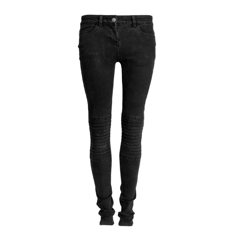 Black Denim Women Front