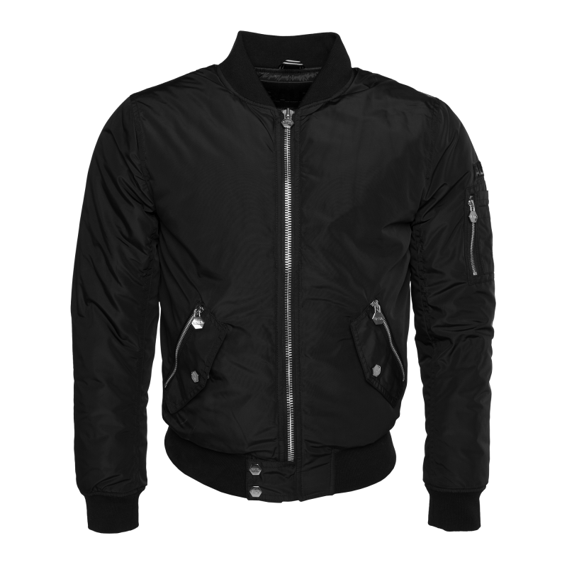 Detailed Bomber Jacket Black